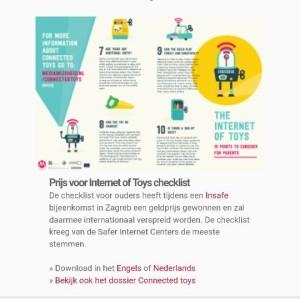 Internationale prijs voor checklist IoT Timmerman/Peetoom